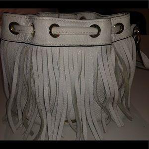 Rebecca Minkoff mini Fiona fringe bucket bag